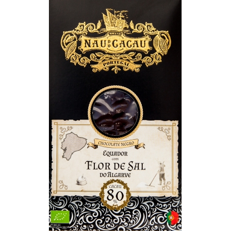 Nau do Cacau - Flor de Sal do Algarve (Equador 80%)