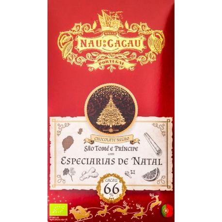 Nau do Cacau - Especiarias de Natal (S. Tomé 66%)