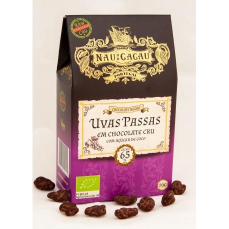 Nau do Cacau - Uvas Passas em Chocolate Cru