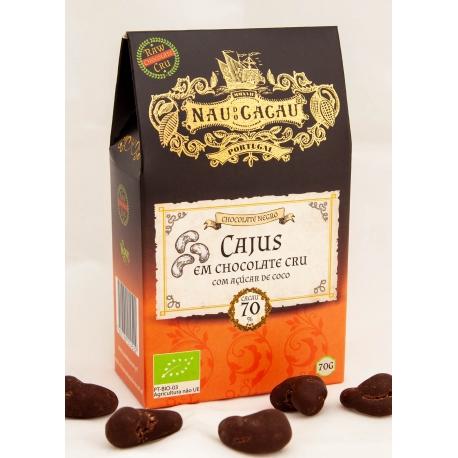 Nau do Cacau - Cajus em Chocolate Cru