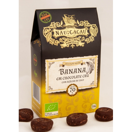 Nau do Cacau - Banana em Chocolate Cru