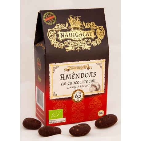 Nau do Cacau - Amêndoas em Chocolate Cru